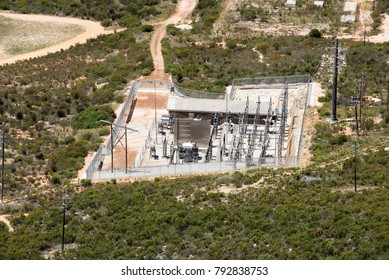 Hermanus Wesstern cape South Africa. December 2017. An overview of an electricity supply sub station.