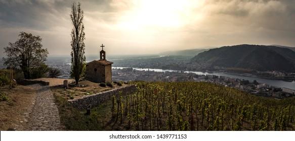 hermitage chapel rhone valley panorama