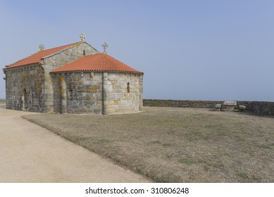 The hermitage of Lanzada (Pontevedra, Spain).