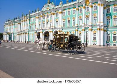Hermitage Museum - Winter palace of Russian kings,  Saint Petersburg, Russia