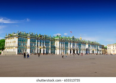 Hermitage palace in Saint Petersburg, Russia.
