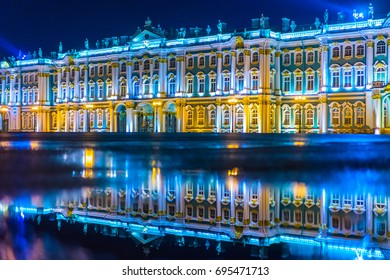 The Hermitage in St. Petersburg. Museums. Russia.