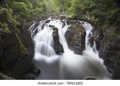 the hermitage waterfall, perthshire, scotland