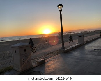 Hermosa Beach, CA: 5/27/2019:  Sunsetting in Hermosa Beach, CA.  Hermosa Beach is an upscale beach community in California.