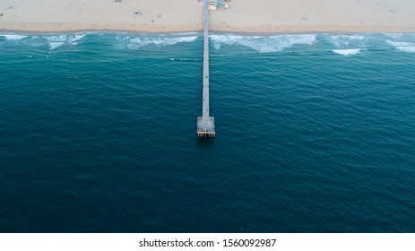 Hermosa Beach Pier Aerial Photo in Los Angeles, California