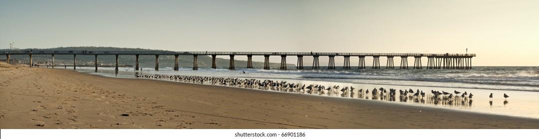 Hermosa Beach Pier Panoramic
