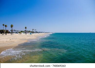 hermosa beach pier view