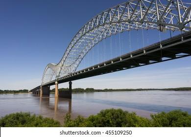Hernando de Soto Bridge Spanning Mississippi River Arkansas Tennessee