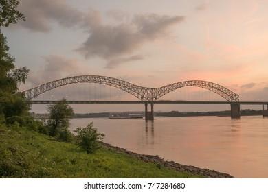 Hernando Desoto Bridge in Memphis Tennessee
