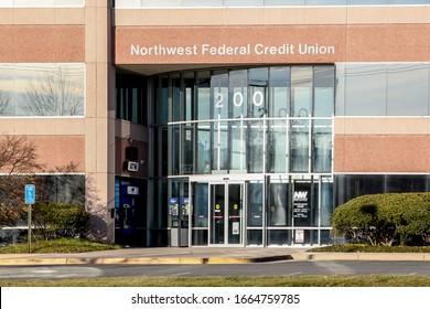 Herndon, Virginia, USA - March 1, 2020: Northwest Federal Credit Union Headquarters in Herndon, Virginia, USA. Northwest Federal Credit Union is the 4th largest credit union in Virginia, USA