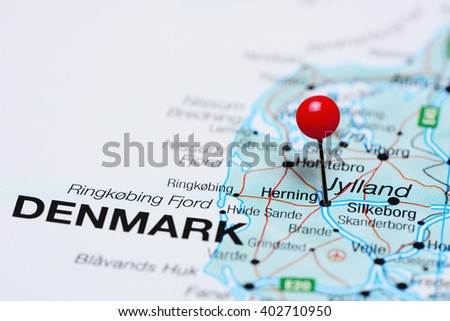 Herning Pinned On Map Denmark Stock Photo (Edit Now) 402710950 ...