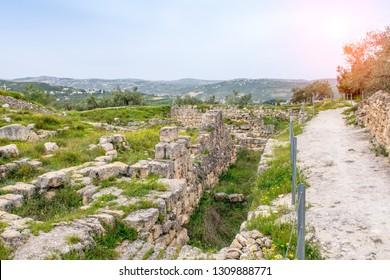 Herod the Great Palace in Sebastia, Samaria