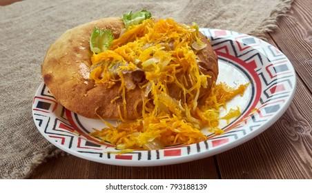 Herring Beshbarmak - national cuisine of Tatarstan