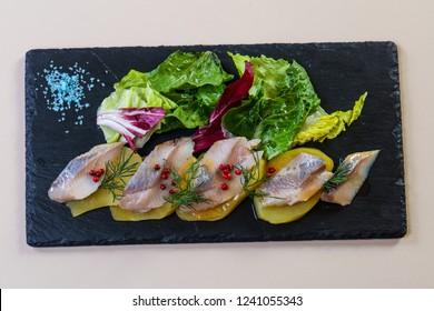 Herring with potao and onion