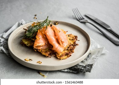 herring salmon fish eat food plate dinner lunch restaurant homemade dish black white elegant gourmet table top view grill seafood meal