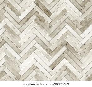 Herringbone bleached natural parquet seamless floor texture