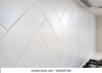 Herringbone Kitchen tile splash backs