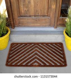 Herringbone Outdoor / Indoor Coir Scraper Door Mat