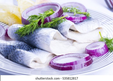 Herrings for Christmas on a plate