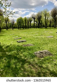 """HERRNHUT, GERMANY, May 10th, 2017: A view of """"God's Acre"""", the Moravian's burial Ground in Herrnhut, Germany."""