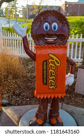 Hershey, PA, USA – December 10, 2015: Hershey Candy Characters on display outside the Chocolate World in Hershey PA