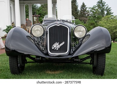 HERSHEY, PA, USA-JUNE 14, 2015:  1929 Alfa Romeo 6C 1750SS on display at The Elegance at Hershey.  Alfa built 30 of these cars with the SS designation.  It had a top speed of 95mph.