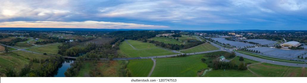 Hershey Pennsylvania USA Aerial Panorama