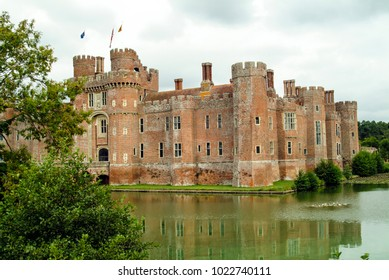 Herstmonceux, East Sussex, England - 8.22.03 Herstmonceux Castle and Moat.
