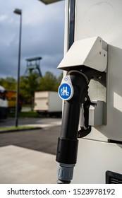 HERTEN, GERMANY – OCTOBER 05 2010: Hydrogen dispenser for vehicles in germany