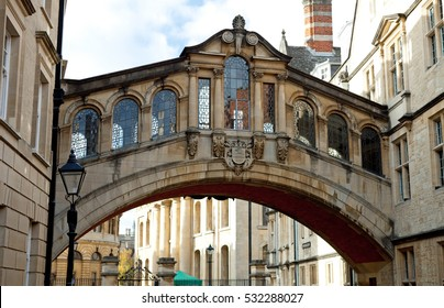Hertford Bridge known as the Bridge of Sighs, is a skyway joining two parts of Hertford College, Oxford, UK