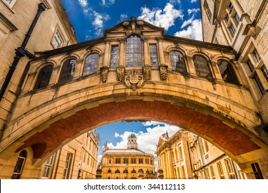 Hertford Bridge, popularly known as the Bridge of Sighs, is a skyway joining two parts of Hertford College over New College Lane in Oxford, England,UK, Europe - city landmark