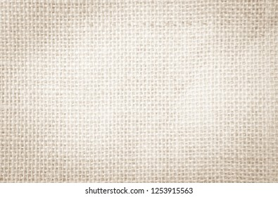 Hessian sackcloth or rustic jute sackcloth woven fabric texture background. Textiles for coffee beans.