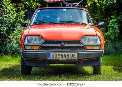 Hetzlinshofen, Germany - May 27, 2018: 1979 Citroen GSA at the 6. Hetla-Klausa oldtimer car and tractor meeting.