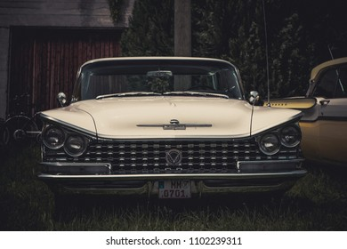 Hetzlinshofen, Germany - May 27, 2018: Buick Electra 225 at the 6. Hetla-Klausa oldtimer car and tractor meeting.