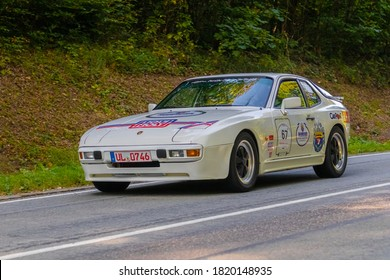 Heubach, Germany - September 20, 2020: 1982 Porsche 944 german oldtimer luxury sports car at the 8. Bergrevival Heubach 2020 event.