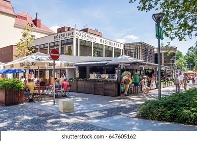 Heviz, Hungary - june 12, 2016: Heviz street