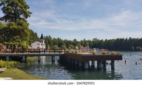 Heviz. Hungary. Summer. Thermal lake Heviz.