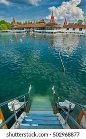 Heviz Natural Hot Water Thermal Lake in Hungary