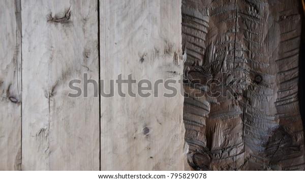 a hewn doorway