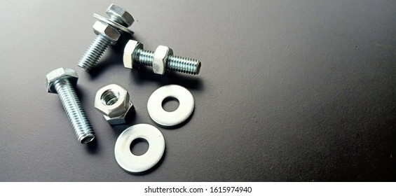Hex Bolts Bolts with a hexagonal head, A six sided nut