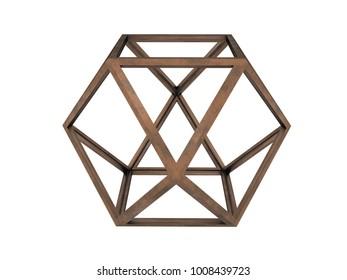 Hexaedron, Leonardo da Vinci, 3D model