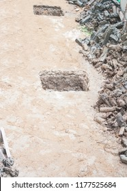 hexagon concrete pile for driven friction by worker