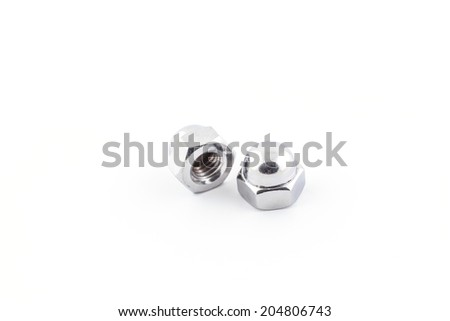 Hexagon Domed Cap Nuts On White Stock Photo (Edit Now