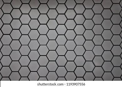 Hexagon and honeycomb background.