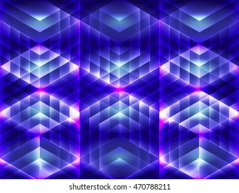 Hexagon Pattern with Color Shine