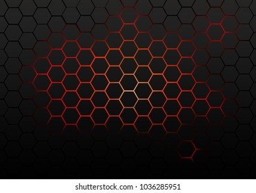 Hexagon pattern with gradient effect for background