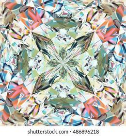 Hexagon Prism Colorful Shine Pattern