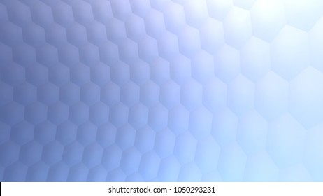 Hexagonal abstract  background (3d render)
