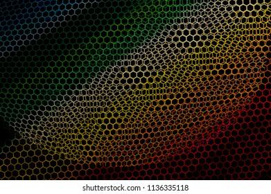 hexagonal geometric abstract composition