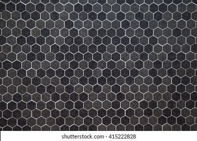 Hexagonal tiles mosaics texture background